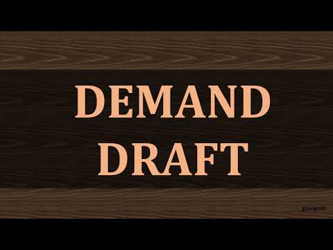 DIFFERENCE BETWEEN CHEQUE AND DEMAND DRAFT