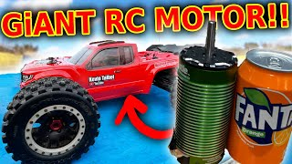 GiANT FAST motor in BiG rc car - Arrma Kraton 8s + 1100kv XLX2
