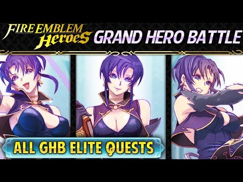 Fire Emblem Heroes - Grand Hero Battle: Ursula INFERNAL All GHB Elite Quests Guide [Minimal SI]