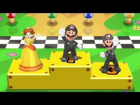 Mario Party 9 Mini Games - Dark Mario Vs Dark Luigi Vs Peach Vs Daisy