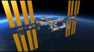 3D virtual spacewalk outside the International Space Station