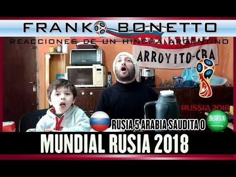 Rusia 5 Arabia Saudita 0 | Reacciones De Un Hincha Argentino | Copa Mundial Rusia 2018