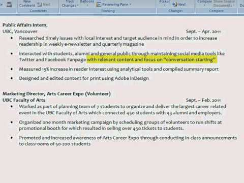 Resumes 101: Accomplishment Statements - YouTube