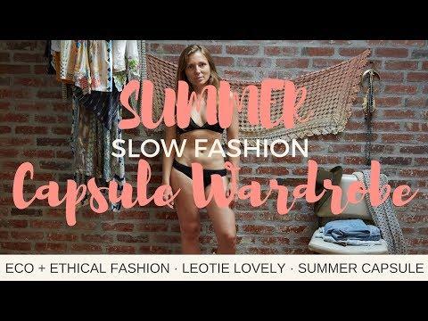 Eco + Ethical SUMMER Capsule Wardrobe | 21 Items x 49 Ways