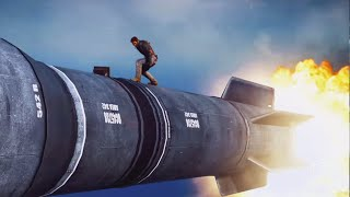 RIDING A MISSILE! (Just Cause 3 Funny Moments)