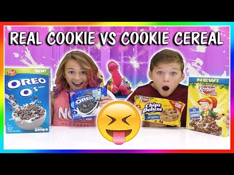 REAL COOKIES VS COOKIE CEREAL 😂  We Are The Davises