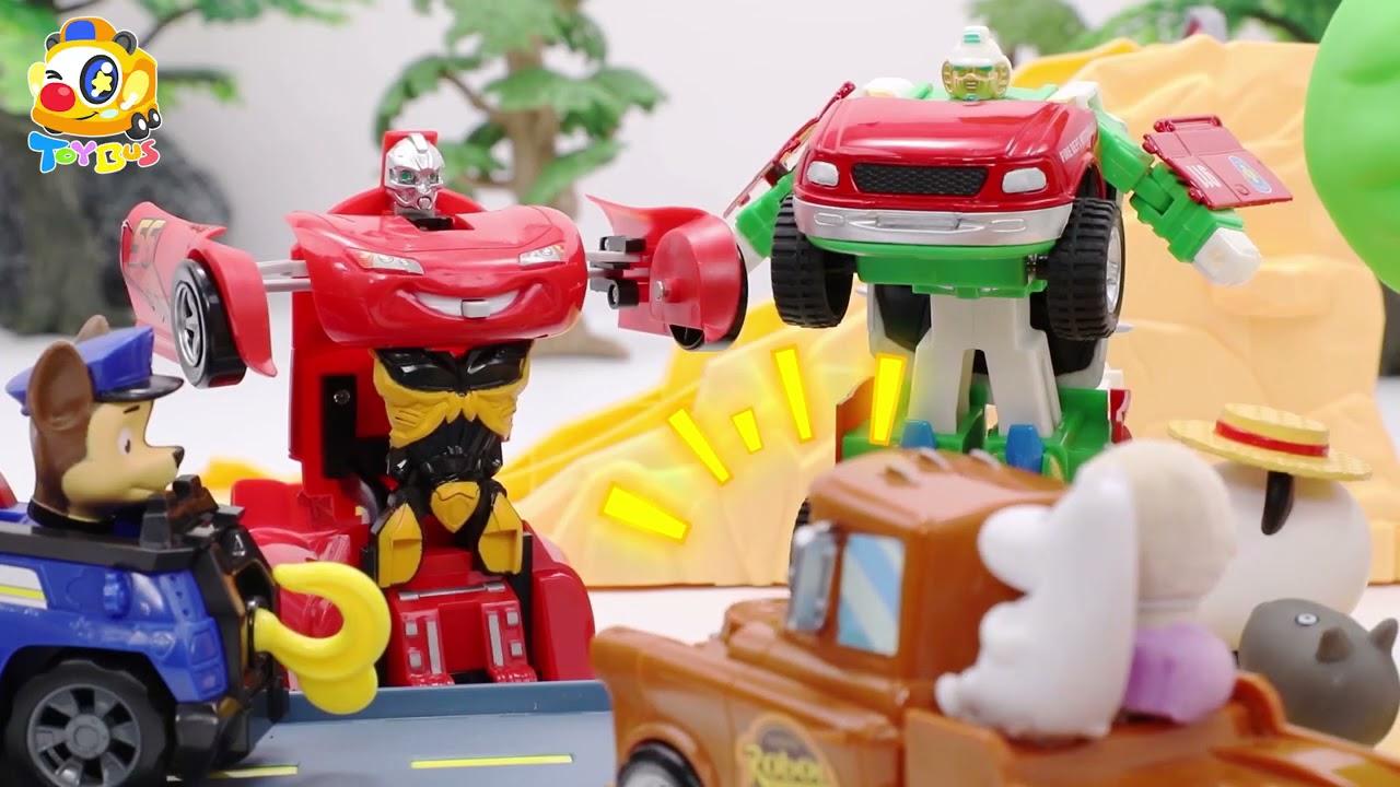 警察ごっこ❤トイバス(ToyBus) キッズ おもちゃアニメ