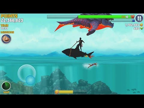 Hungry Shark Evolution Pyro Shark Android Gameplay #44