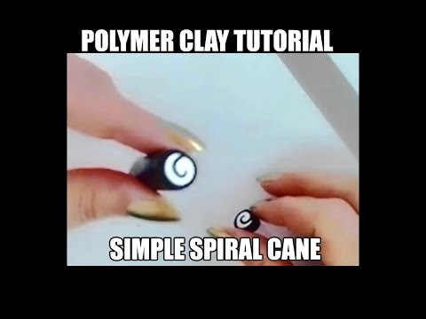 Polymer clay tutorial - simple spiral cane
