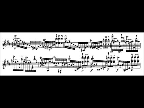 Niccolò Paganini - Caprice for Solo Violin, Op. 1 No. 20 (Sheet Music)