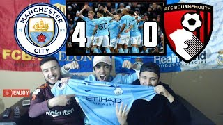 BARÇA & MADRID FANS REACT TO: MAN CITY 4-0 WIN OVER BOURNEMOUTH - REACTION