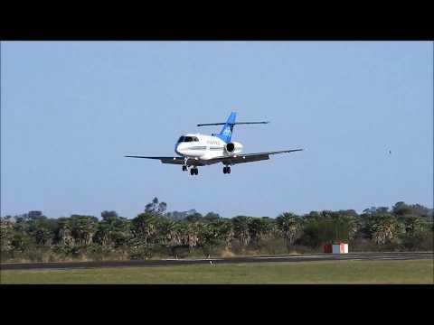 Hawker 800XP. Aterrizaje y rodaje en el aeropuerto de Formosa - HD