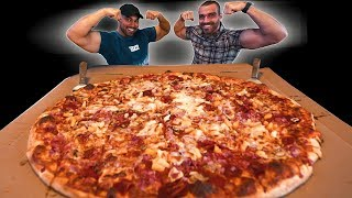 """28"""" Massive Pizza Challenge ($200 Cash!!) Ft. Nick Dompierre"""