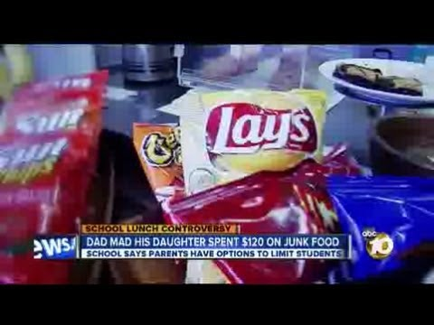 Dad Angry Daughter Spent $120 On Junk Food At School