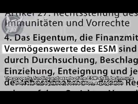 NWO Illuminati European Banks Stability Mechanism ESM New NAZI Dictatorship (German eng subtitles)