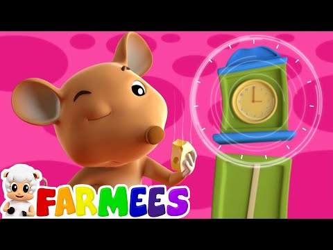 hickory dickory dock | nursery rhymes | kids songs | 3d rhymes by Farmees S01E109