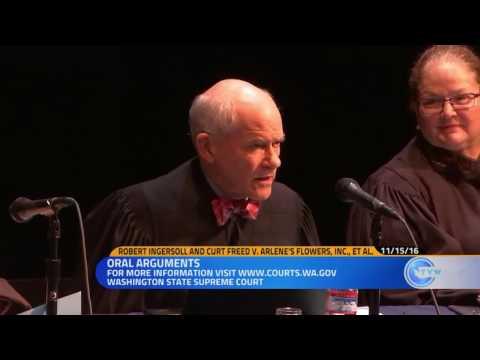 Oral Arguments for Barronelle Stutzman's case before the Washington State  Supreme Court