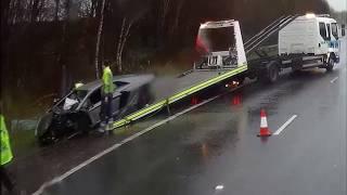 Lamborghini Crashes on M62 near Liverpool UK , totally destroyed dannydashcam