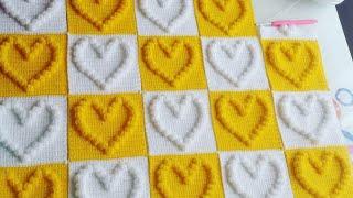 Kalpli Popcorn Bebek Battaniyesi Motifi Yapılışı