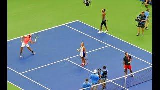 Rafael Nadal, Roger Federer, Venus Williams and Angelique Kerber at US Open Tennis Championship, Art