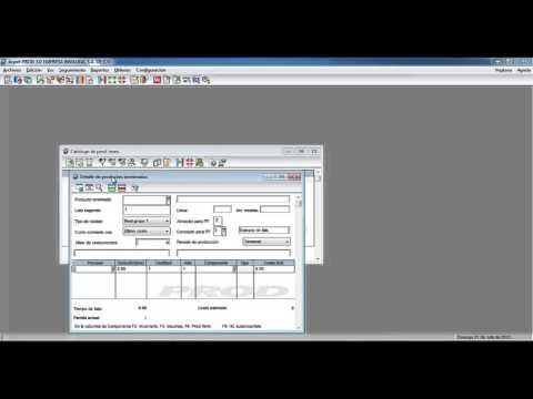 Como trabajar con Aspel Prod 3.0