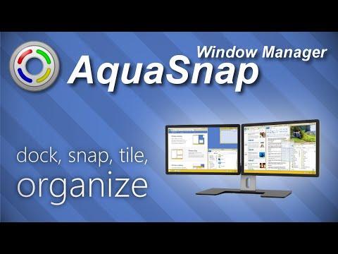AquaSnap Window Manager: dock, snap, tile, organize