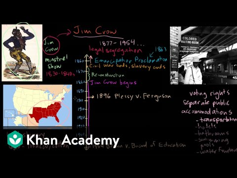 Jim Crow part 1   The Gilded Age (1865-1898)   US History   Khan Academy