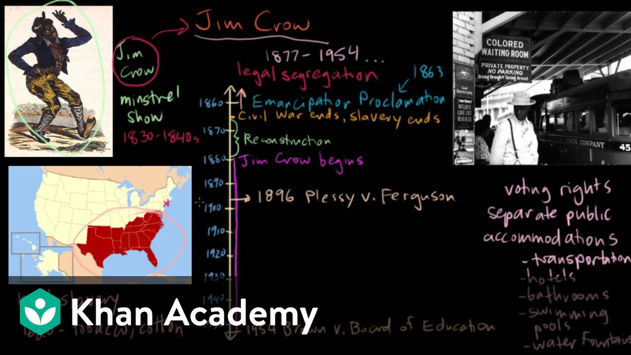 The Origins Of Jim Crow Introduction Video Khan Academy
