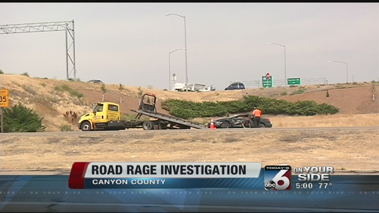 Road rage incident accident in Nampa