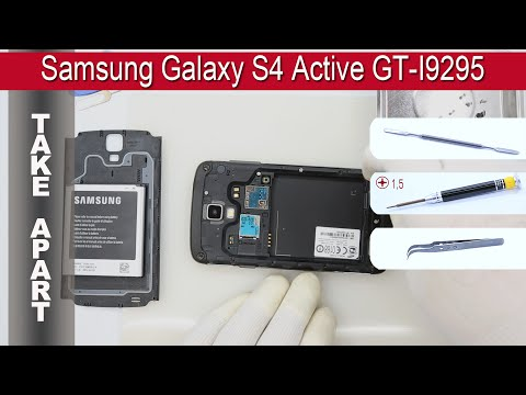 How to disassemble 📱 Samsung Galaxy S4 Active GT I9295 Take apart Tutorial