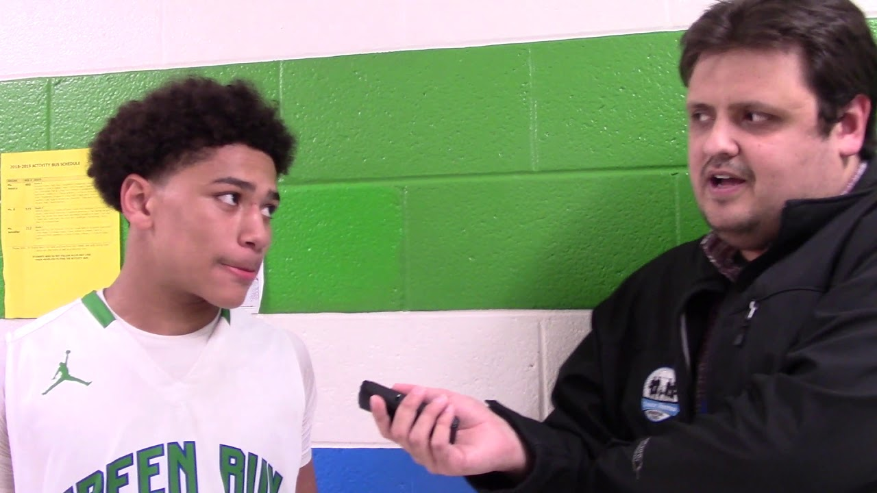 Green Run's Jake Cooper & Karree Smith after 61-58 win over Princess Anne