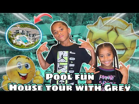 Download GREY TAKES KD ON A HOUSE TOUR | POOL FUN WITH GREY VLOG!!!