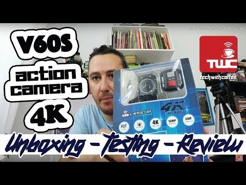 Η φθηνότερη action camera greek 4K V60S Unboxing, Testing, Review | Gearbest Greece