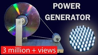 DC motor dynamo |  How to make a Power Generator - A easy science project DIY