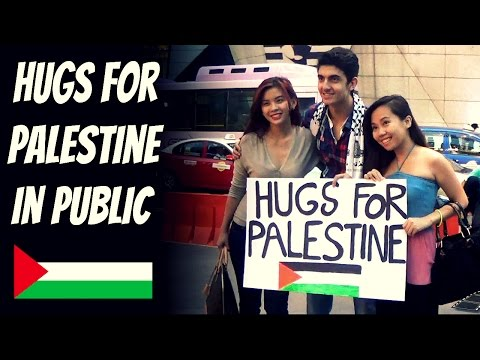 Hugs for palestine in public - Malaysia