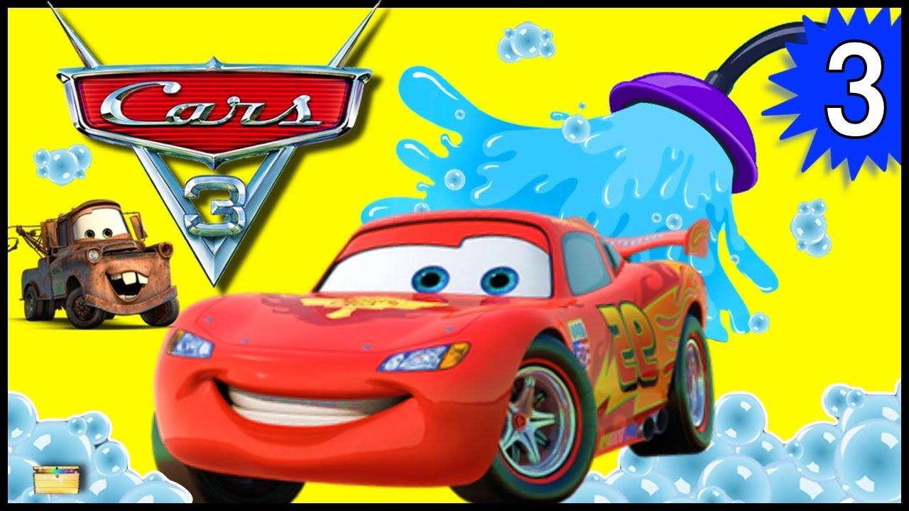 Lightning Mcqueen Car Wash Video