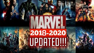 Upcoming Marvel movies in 2018-2020! UPDATED!!!