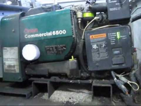 hqdefault onan 479 hour 6500 watt gas generator youtube onan 6500 commercial generator wiring diagram at gsmx.co