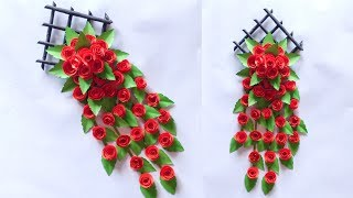 IDEAL CREATIVE WALL DECORATION FLOWER FROM PAPER | PAPER WALL HANGING