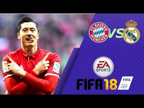 GRAMY W FIFE 18! BAYERN VS REAL MADRIT  - FIFA 18 [PL/HD]