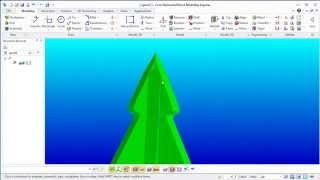 How to draw a Christmas tree in Creo Elements