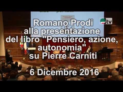 """Romano Prodi alla presentazione del libro """"Pensiero, azione, autonomia"""" su Pierre Carniti"""