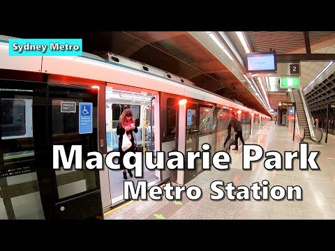 MACQUARIE PARK Metro Station | SYDNEY METRO : Station Tour