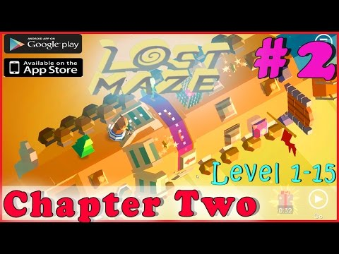 LOST MAZE Walkthrough Gameplay Guide | CHAPTER 2 - Level 1-15 3 Stars | iOS Android Full HD ENGLISH
