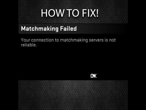 Your Connection To Matchmaking Is Not Reliable