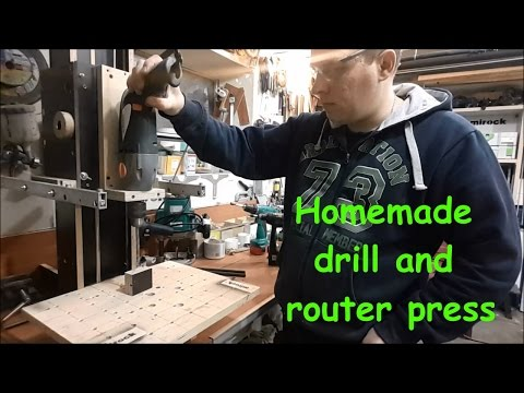 Homemade drill and router press. General review