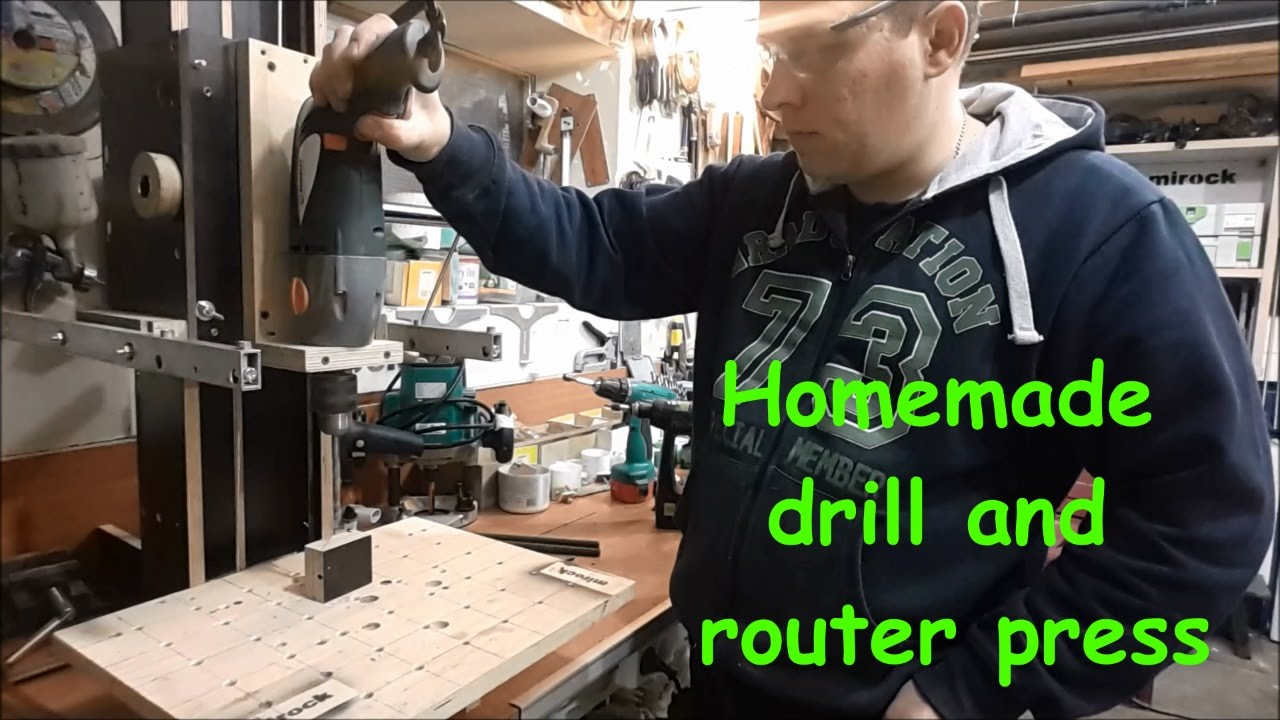 Homemade Drill And Router Press General Review Youtube