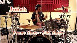 Bruno Mars - 24K Magic, Drum Cover by Jonah. Age 12