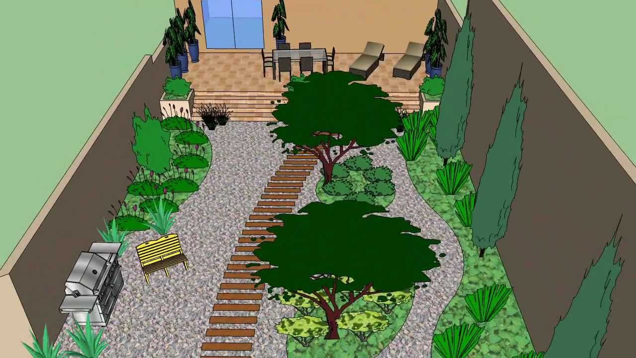 Garden design 3d sketchup youtube for Architecte jardin 3d gratuit