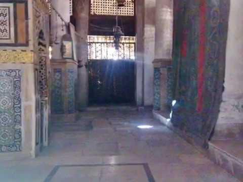 الحجره النبويه وقبر الرسول من الداخل(ابراهيم شهاب)